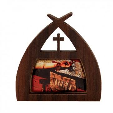 IMÃ GELADEIRA MÃOS ENSANGUENTADAS DE JESUS