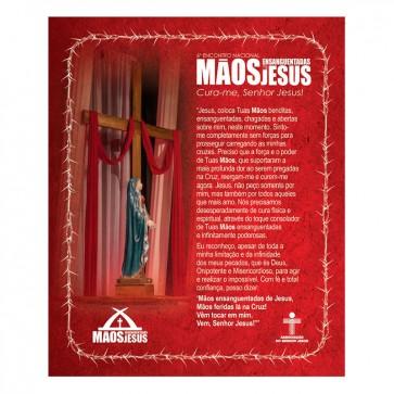 LENÇO MÃOS ENSANGUENTADAS DE JESUS 6º ENCONTRO NACIONAL