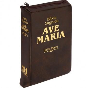 BÍBLIA SAGRADA LETRA MAIOR MARRON