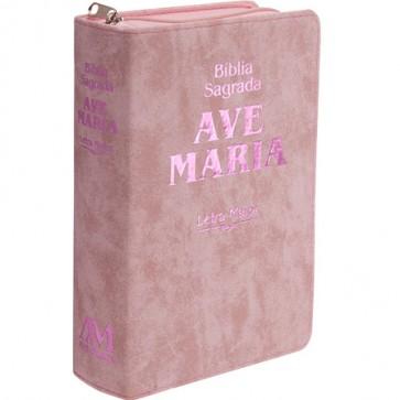 BÍBLIA SAGRADA LETRA MAIOR ROSA