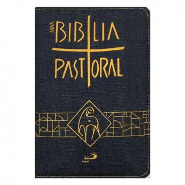 NOVA BÍBLIA PASTORAL MÉDIA ZÍPER JEANS