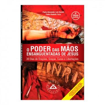 """LIVRO E CD """" O PODER DAS MÃOS ENSANGUENTADAS DE JESUS"""