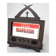 PORTA CELULAR TV MÃOS ENSANGUENTADAS DE JESUS