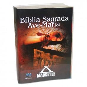 BÍBLIA PERSONALIZADA MÃOS ENSANGUENTADAS DE JESUS - CAPA PLÁSTICA