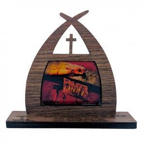 CAPELINHA 11CM MÃOS ENSANGUENTADAS DE JESUS