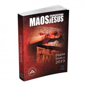 DIÁRIO BÍBLICO 2019 BROCHURA CAPA PLÁSTICA MÃOS ENSANGUENTADAS DE JESUS