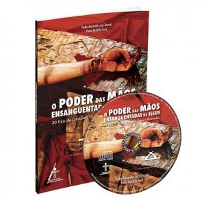 """LIVRO E CD """" O PODER DAS MÃOS ENSANGUENTADAS DE JESUS """""""