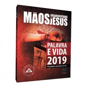 PALAVRA E VIDA 2019 BROCHURA CAPA PLÁSTICA MÃOS ENSANGUENTADAS DE JESUS