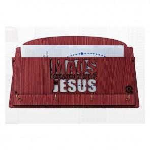 PORTA CHAVE E CARTA MÃOS ENSANGUENTADAS DE JESUS