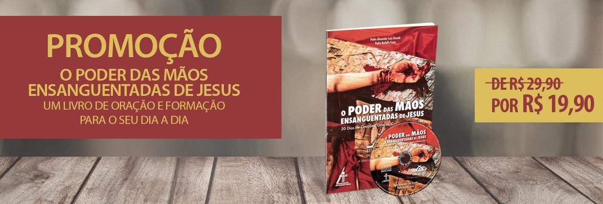 Promoção Livro e CD Mãos Ensanguentadas de Jesus